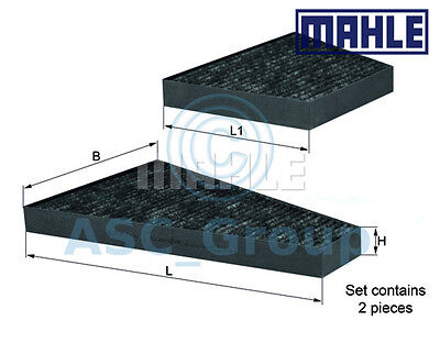 Genuine MAHLE Replacement Interior Air Cabin Pollen Filter LAK 225S LAK225S