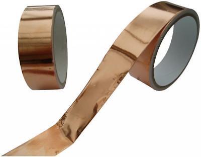 Guitar Pickup Copper Foil 20mm x 4m Shielding Screening Tape Standard Adhesive