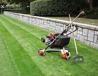 Lawn cutting services yard cleanup services