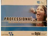 VHF dual radio microphone system
