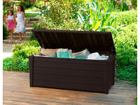 Keter Outdoor Storage Box - Brightwood - 454 L - Brown *delivery available*