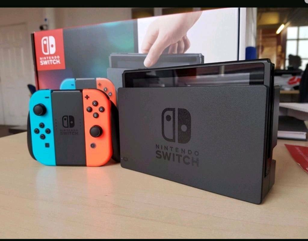 Nintedo Switch neon for sale with Mario kart