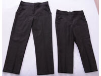 BRAND NEW 2 x Girls School Black Bow Pocket Straight Leg Trousers size 3-4 and 5-6 years