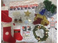 Like New Christmas tree, decorations, wrapping paper and gift bags - all for just £20