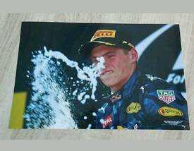 Max Verstappen signed 12x8 F1 photo with Coa