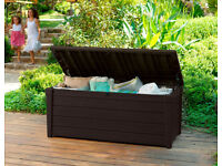 Keter Brightwood Outdoor Plastic Storage Box Garden Furniture. Fully built and delivery available.