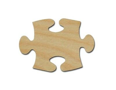 Puzzle Piece Shape Unfinished Wood Cutout Variety of Sizes Artistic Craft Supply