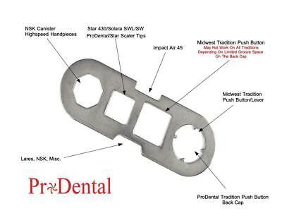 Universal Back Cap Wrench For Starmidwestlaresnskimpact Air Dental Handpiece