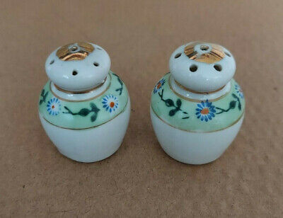 Old Bisque Apple Salt and Pepper Shakers Collectible Salt and Pepper Made in Germany German Pepper Green Apple Bisque Porcelain Salt