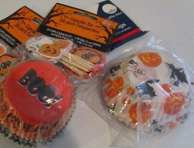 HALLOWEEN WILTON CUPCAKE KIT 68 PIECE BOO PUMPKINS GHOST WITCH  NIP](Wilton Halloween Cupcake Kit)