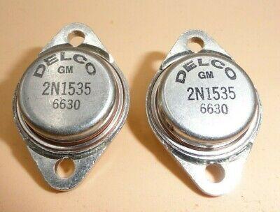 Delco 2n1535 Germanium Power Transistors Qty 2
