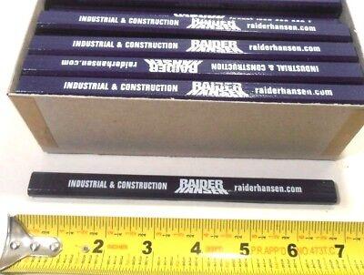 Lot Of 72 Flat Navyblue Color Carpenter Pencils Black Lead Approx.7 Misprints