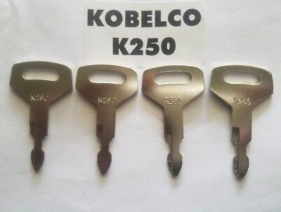 4 Kobelco Excavator Heavy Equipment Keys Oem Logo K250 Fit Case Kawasaki