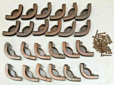 VINTAGE STAIR ROD ANCHORS 12 PAIRS IN DARKENED COPPER EFFECT