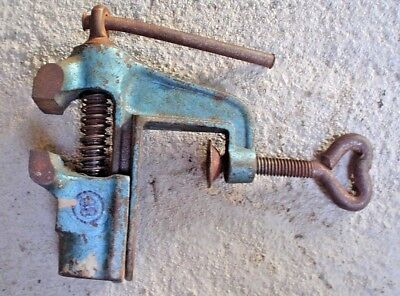 Vintage Antique Table Top Bench Vise W. Germany 1 58 Jaw Opening