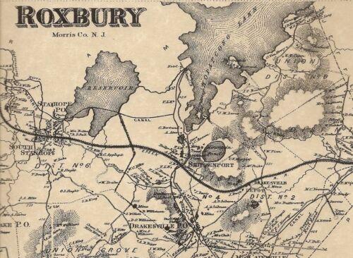 Flanders Budd Lake Succa Sunna Roxbury NJ 1868 Maps with Homeowners Names Shown