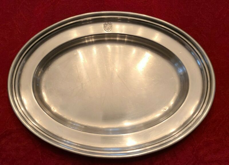 """The Brewster Hotel NYC Silver 10"""" Soldered Plate by Gorham Silver Co Circa 1927"""