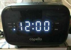 Capello Sleep Easy Digital Alarm Clock with AM/FM Radio Black CR15 ⏰