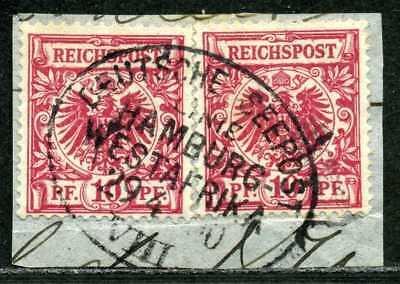 Westafrika DR 47 (2)  Briefstück  Seepost  Hamburg-Westafrika VIII