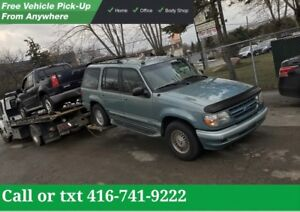 WE PAY TOP CASH FOR SCRAP CARS AND USED CARS