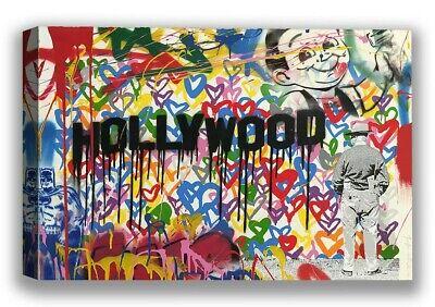 Hollywood Wall Decor (Mr Brainwash Street Art Canvas Hollywood Graffiti Wall)