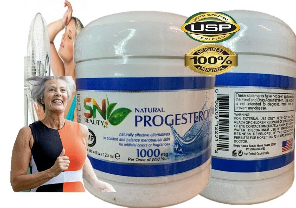 Natural Progesterone Cream 1000mg Xtra strength USP certific