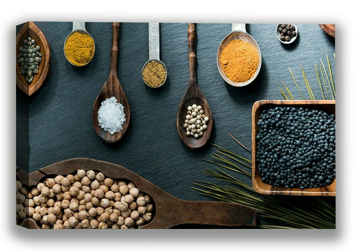 Food Canvas Wall Art Kitchen Spices Home Decor Prints