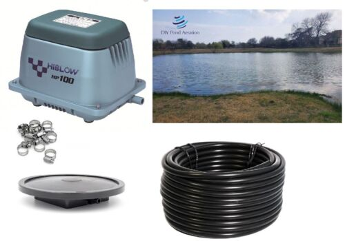 NEW Hiblow Small Fish Pond / Septic Aeration Kits up to 24,000 GAL or 1/2 acre!!