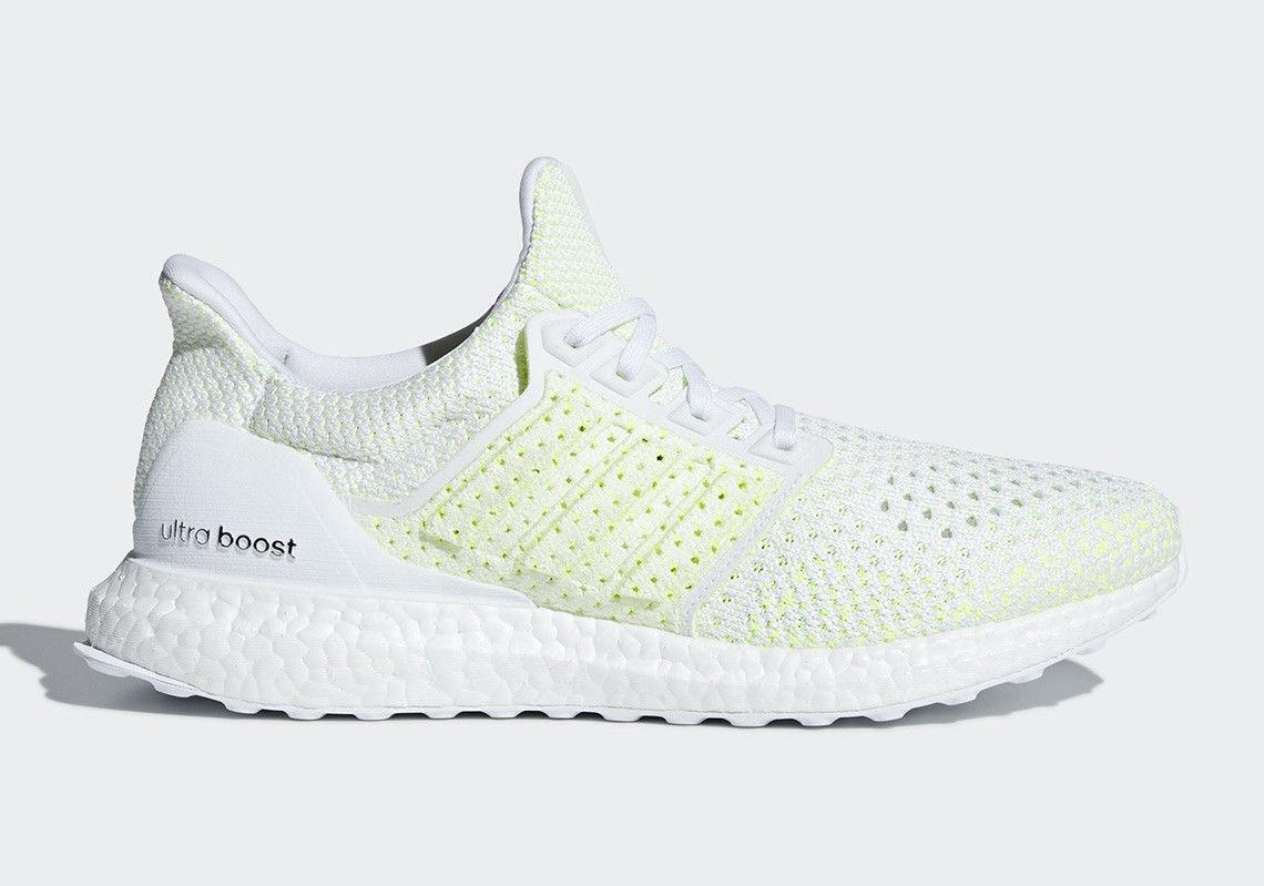 New ADIDAS Men Originals ULTRABOOST CLIMA Shoes (AQ0481)  White//White-Yellow