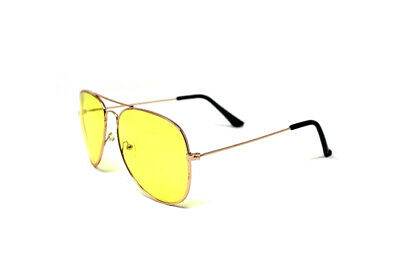 Aviator Gold Computer Gamer Protective Eyewear Sunglasses,UVA and UVB (Uva And Uvb Protection)