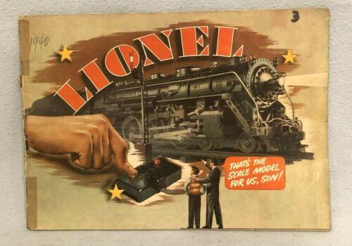 Lionel 1940 Consumer Catalog
