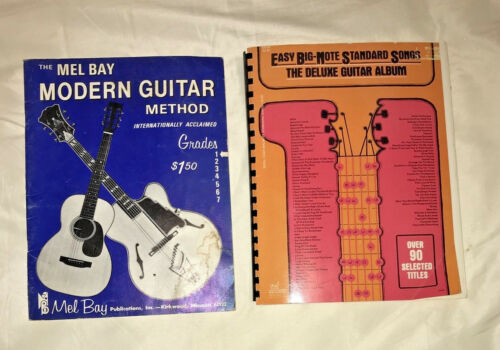 VINTAGE 1972 ~ THE NEW MEL BAY MODERN GUITAR Method GRADE 1  and Easy Song Book