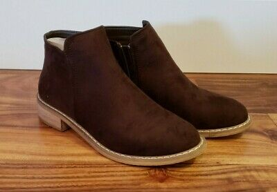 NEW Women's SEVEN Brown Cisco Kid Bootie Suede Ankle Boots Size 8 US