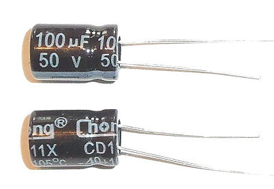 E-projects - 100uf 50v 105c Radial Electrolytic Capacitor 5 Pcs - Tracking