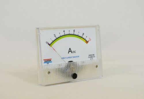 10 AMP DC AMPER PANEL METER CLASS 0.5 - NO NEED SHUNT - MADE IN USA