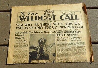 WW2 US Army Military 322nd Infantry 81st Division Newspaper 1942 segunda mano  Embacar hacia Argentina