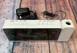 SHANLONYI Projection Alarm Clock Radio for Bedrooms LED Light Desk Digital Time