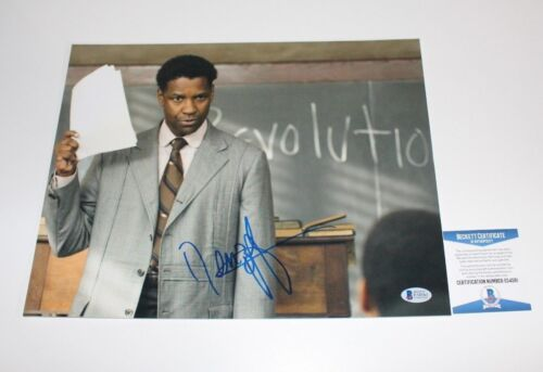 ACTOR DENZEL WASHINGTON SIGNED THE GREAT DEBATERS 11X14 PHOTO BAS COA MALCOLM X