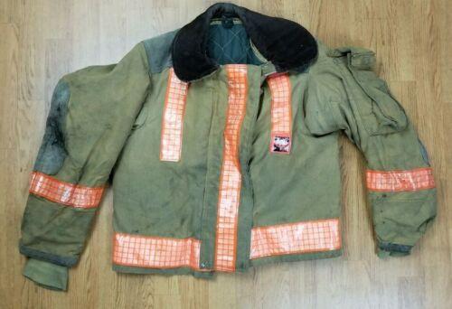 Vintage Globe Firefighter Bunker Turnout Jacket 40 Chest x 26 Length 1988..
