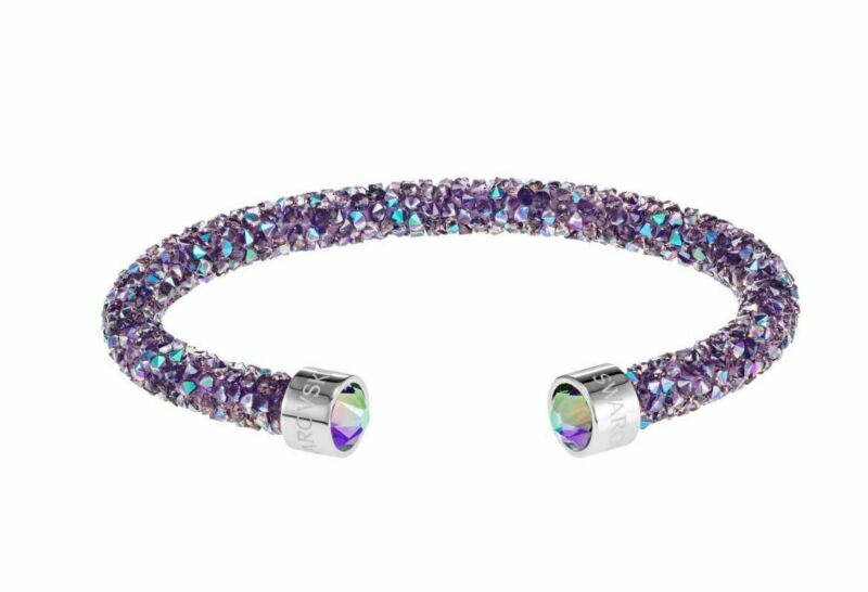 Authentic NIB$69 Swarovski Crystaldust Cuff Bracelet Purple Size Medium #5385820