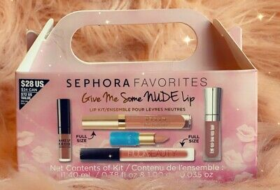 SEPHORA FAVORITES Give Me Some Nude Lip Kit Huda Buxom Stila Tarte Makeup 5PC