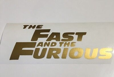 Fast and the furious,car decal/ sticker for windows, bumpers , panels or laptop