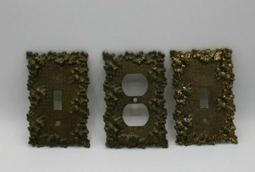 Vintage 1967 American tack & hardware Co. 2 light switch plates & Plug in Plate
