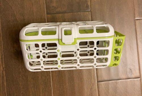 Munchkin Dishwasher White Green Basket For Baby Bottles + Nipples used