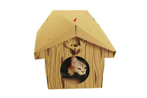 Brand New Suck UK foldable cardboard play house for cats and kittens