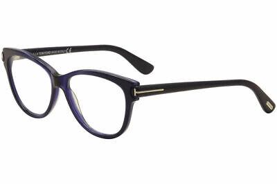 Tom Ford Women's Eyeglasses TF5287 TF/5287 092 Navy Cat Eye Optical Frame (Cat Eye Optical Frames)
