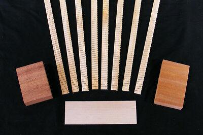Acoustic Guitar Builders Pack - Kerfing, Neck / Tail Block & Bridge Plate, BSWD