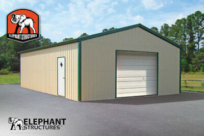 Metal Garage Building Kit - 20 X 26 X 9 For 9155