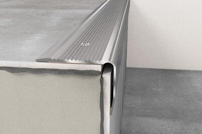 - Anodised Aluminium Stair Nosing Edge Trim Step Nose Edging Nosings -1.20 m long