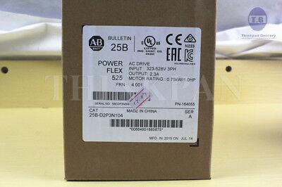 Factory Sealed Allen Bradley Powerflex 525 1hp Catalog 25b-d2p3n104 New In Box